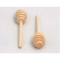 6'' Wooden Honey Dipper (25 PCS)