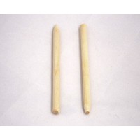Wooden Apple Sticks 1/4 x 5.5 (100 PCS)